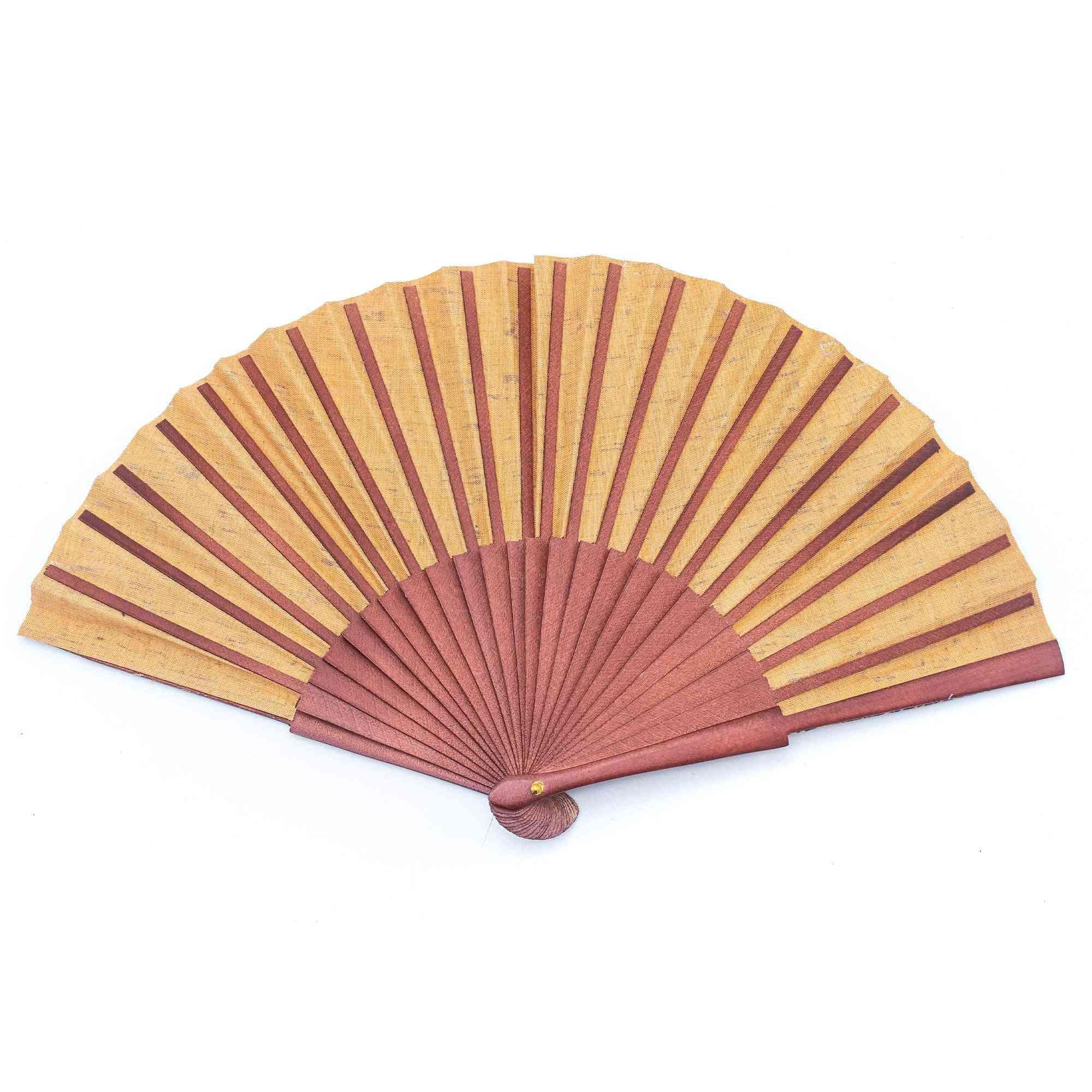 Cork Hand Fan With Traditional Portuguese Parrten  Folding Fan L-552-k