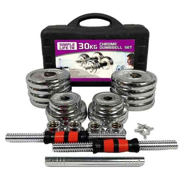 66lbs Adjustable Cast Iron Dumbbell Sets With Portable Packing Box
