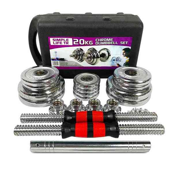 44lbs Adjustable Cast Iron Dumbbell Sets With Portable Packing Box