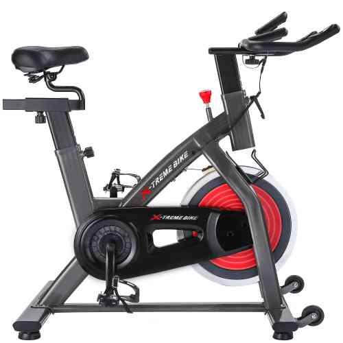 Indoor Cycling Bike 4-way Adjustable Handlebar & Seat Lcd Monitor