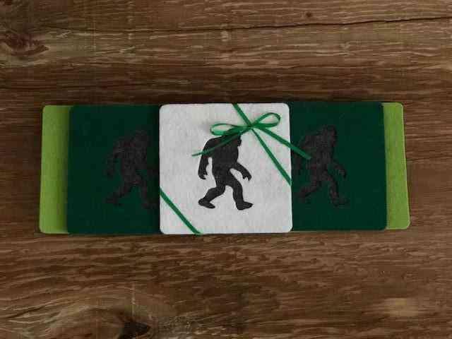 Sasquatch Big Foot Merino Non Scratch Coasters
