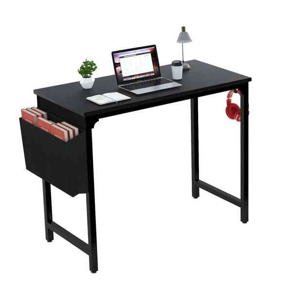 """40"""" Computer Table For Home Office Desk Black"""